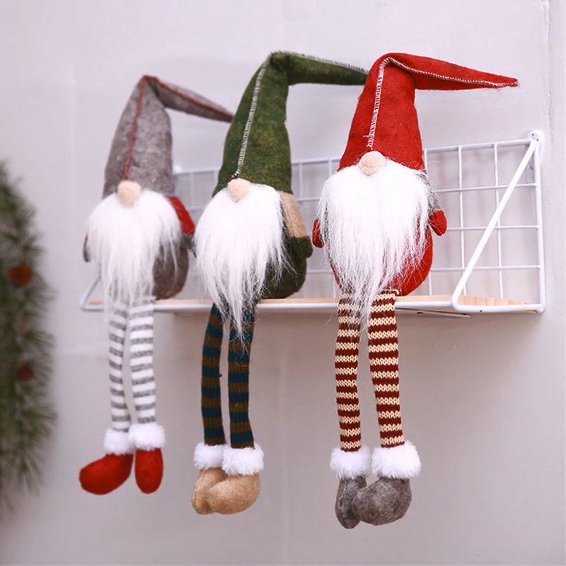 Toys 2020 Christmas Decorations Forest Old Man Long Legged Doll Window Decor Christmas Decorations In Bulk