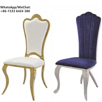 Modern Dining Chair New Design Gold Stainless Steel High Back Banquet Wedding Chair