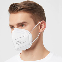 folding dust industrial respirator kn95 grade face mask without valve