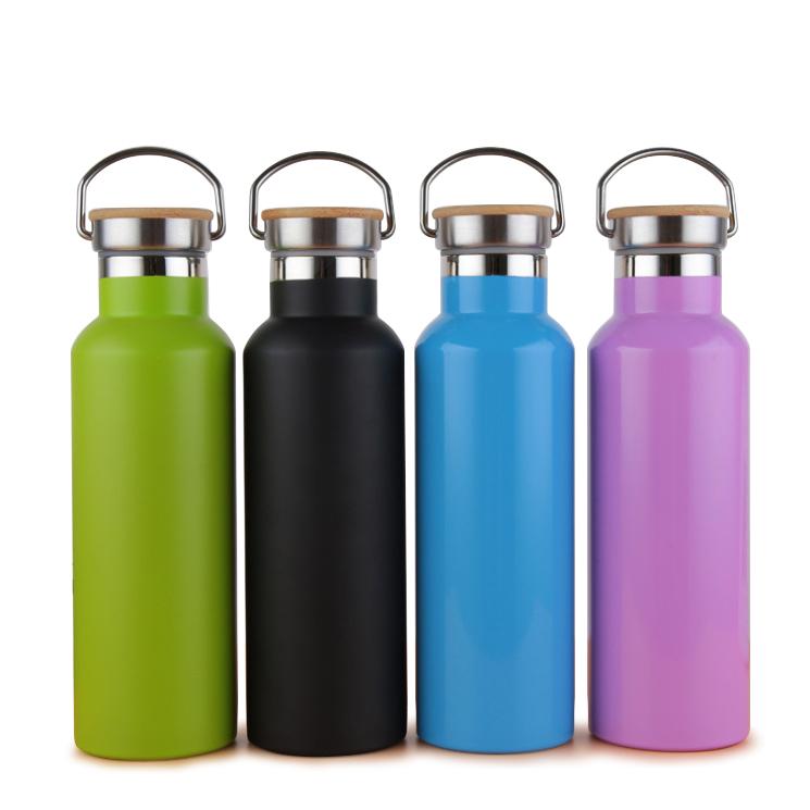Groothandel RTS Kolf Vacuum Thermos 500ml Dubbelwandige Rvs Fles Met Bamboe Deksel DMA7002 Fles