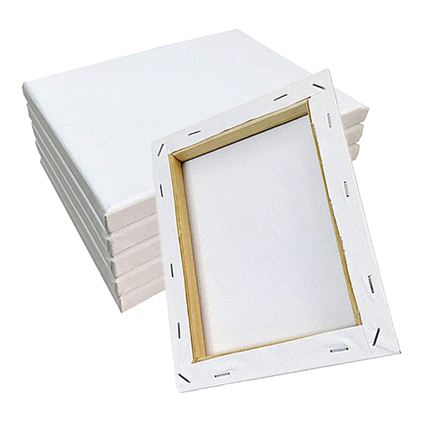 2020 Hot sale OEM hight quality 30*40cm artists white blank stretched canvas panel for artist paintings