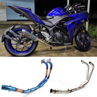 304 Stainless steel Straight motorcycle exhaust pipe for YAMAHA R3/R25/MT 03 exhaust elbow 2016-2017 exhaust