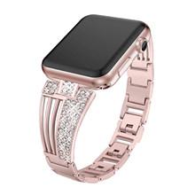 Ремешок JANSIN для часов apple watch, ремешок из нержавеющей стали 38 мм, 42 мм, 40 мм, 44 мм(China)