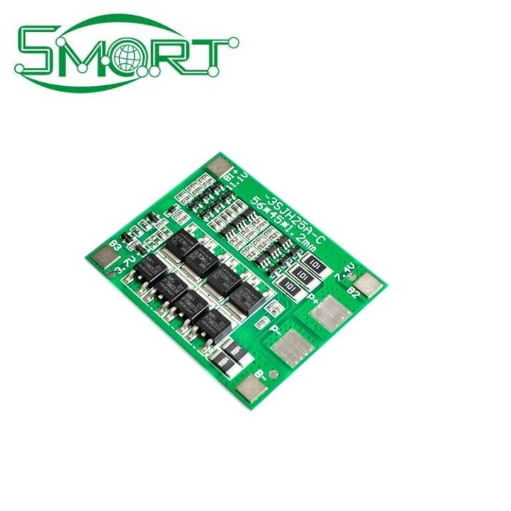 Smart Electronics high quality 3S 25A Li-ion Lithium 18650 BMS PCM battery protection