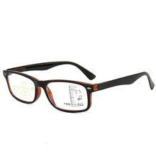 Прямоугольные многофокальные очки для чтения, блок, синий светильник, прогрессивные новые удобные очки, мультифокус, линзы по рецепту(Китай)