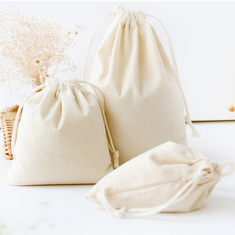 Best prices good quality eco-friendly drawstring fair trade customised cotton bags
