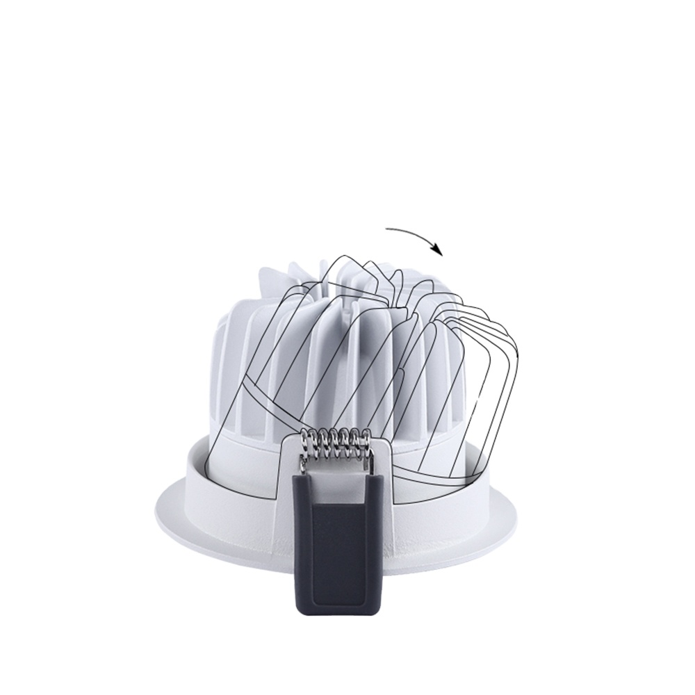 IP20 electrical fitting Commercial ceiling dimmable 10w SMD recessed led light downlight price