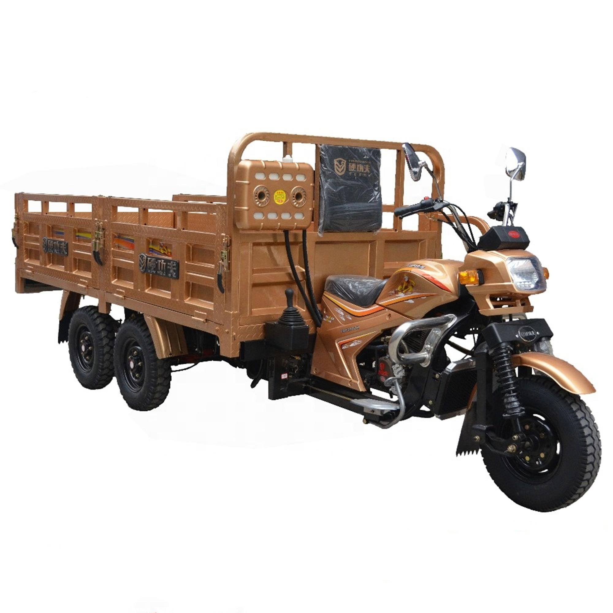 Dijual dengan Baik Truk Kargo Sepeda Roda Tiga/Lima Roda Lebih Panjang Sepeda Motor/Dobel Axle Roda Tiga OEM untuk Pelanggan