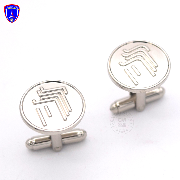 High quality silver plating stainless steel <strong>customized</strong> <strong>cufflink</strong> <strong>engraved</strong> logo business men elegant <strong>cufflinks</strong> for dad's best gift
