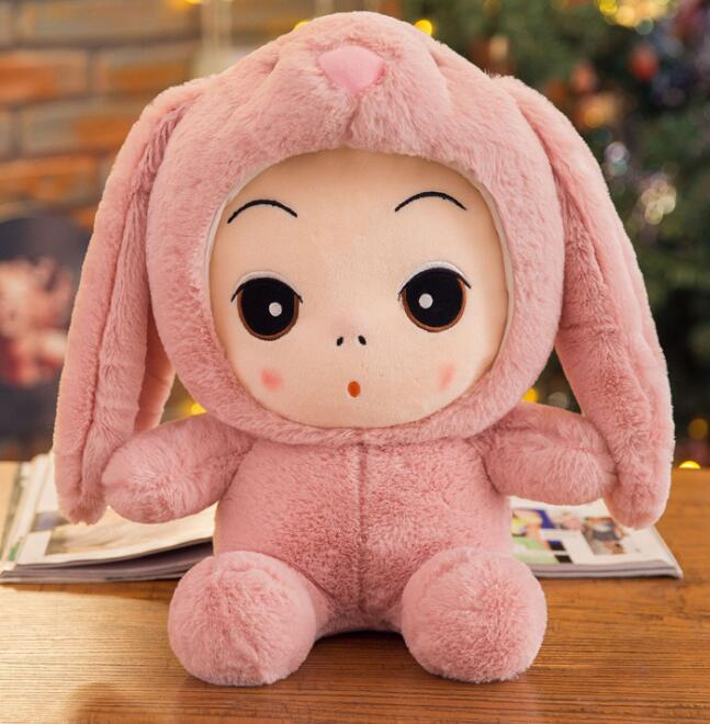 Anime doll short plush pillow cosplay props kids gift toys for children Rabbit Dinosaur Pig animal cloth Baby princess plush toy