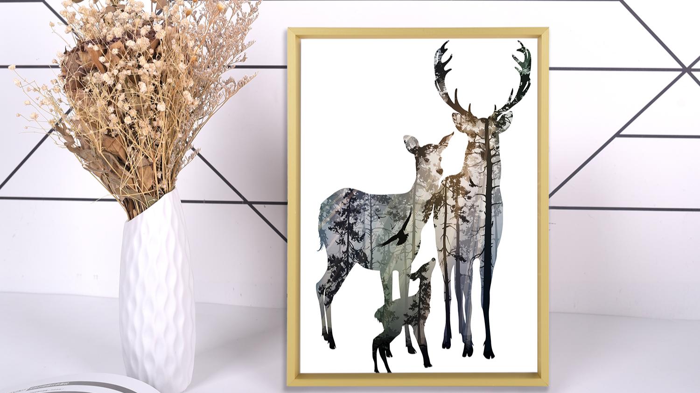 "Morden Minimalist Metallic glossy finish portrait Thin Golden 11x14"" picture frame"