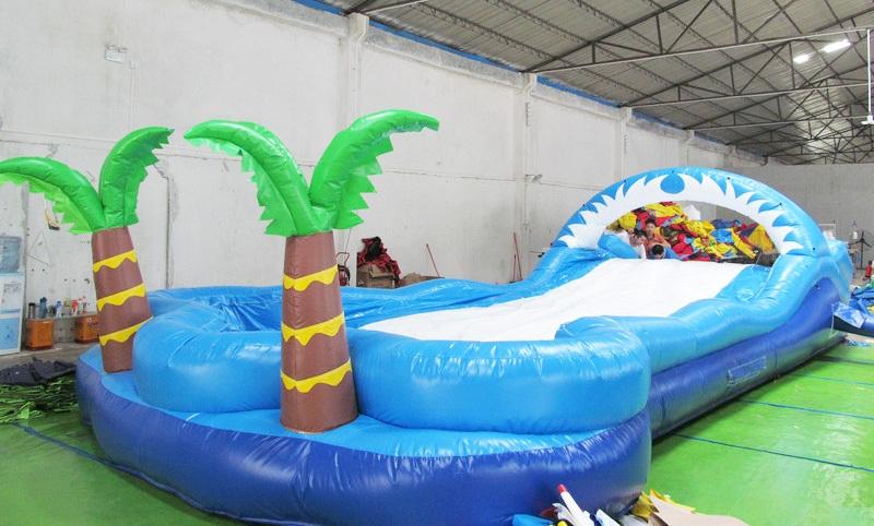 Airtight inflatable surf slide durable rental outdoor inflatable slip N slide
