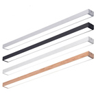 LINGEHAO Modern Simplistic Long (Wooden) Suspended DIY Office Aluminum Led Linear Light
