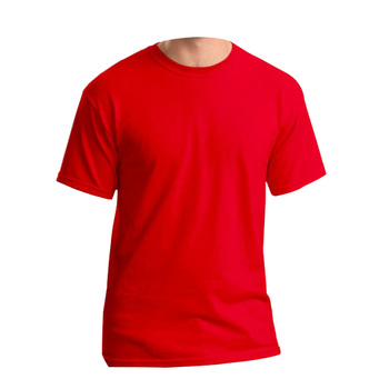 50% cotton 50% polyester t-shirts China manufacturers custom made red plain t shirts for men