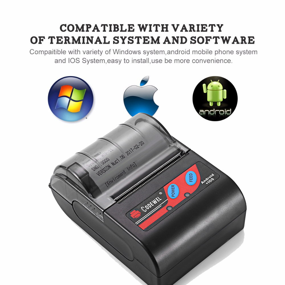mini Bluetooth wireless pos printer Supplier 58mm pos Android Thermal Receipt Printer pos printer drivers