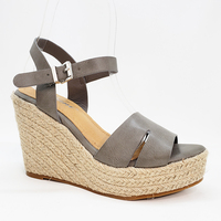 Newest fashion wedge heel high platform sandals espadrille buckle-strap women shoes
