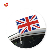 High Quality cheap promotional Custom funeral procession Car Window Flag