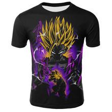 Футболка Dragon Ball Z Мужская, Харадзюку, Гохан, Харадзюку, черная, супер летняя футболка Dragon Ball японского аниме(Китай)