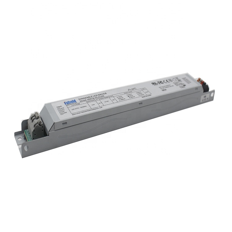 45W Linear LED DRIVER with Dip Switch Output current changeable output power 0-10V/PWM Dimming Aux 12V output