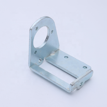 OEM precision white zinc plating sheet metal steel angle bracket