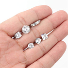 6 Pairs Stainless Steel Cubic Zirconia Stud Earrings for Women Men CZ Hoop Huggie Earrings Set