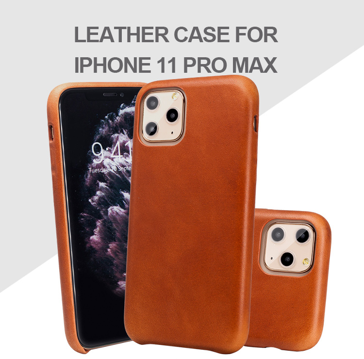 Hot sale  luxury leather phone case mobile phone Protective cover genuine leather cell phone case for iPhone 11 pro max