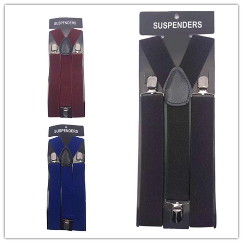 New Fashion Wholesale <strong>Men's</strong> Shirt <strong>suspender</strong> Colorful Solid Color <strong>suspenders</strong>