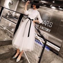 Вечерние платья для выпускного вечера It's Yiiya R243, элегантные вечерние платья длиной до середины икры с круглым вырезом и рукавом до локтя, кру...(China)