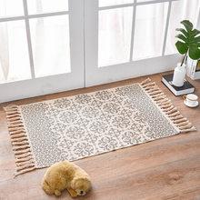 Новые хлопковые ковры из смешанного волокна, декоративные коврики для гостиной/спальни, Входные Коврики, моющиеся коврики(Китай)