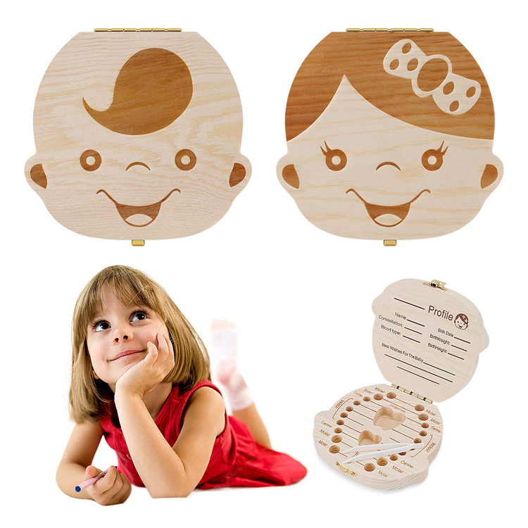 Baby Tooth Box and Tooth Holder Tooth Fairy Box Special for Kids Keepsake Teeth Storage