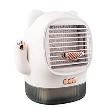 400 мл перезаряжаемый Настольный вентилятор мини портативный Lucky Cat USB кондиционер увлажнитель воздуха офисный мини настольный охлаждающий в...(Китай)