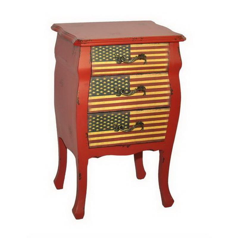 Venta al por mayor Vintage Shabby Chic reclamado casa muebles usados gabinete de almacenamiento de madera