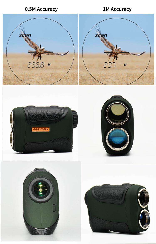 1000 m jarak finder rentang panjang mengukur pengintai laser bermata dengan kecepatan mengukur laser range dan kecepatan finder untuk berburu