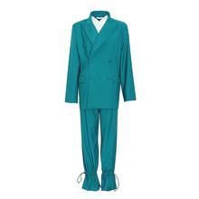 Женский винтажный костюм TWOTWINSTYLE, повседневный костюм из двух предметов, блейзер с отложным воротником и длинными рукавами и брюки с высокой...(Китай)