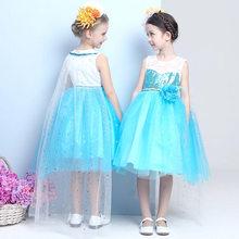 Платье принцессы Эльзы для девочек, детские вечерние платья и свадебные костюмы, Холодное сердце, 2 элегантные платья, одежда для девочек, 2020(China)