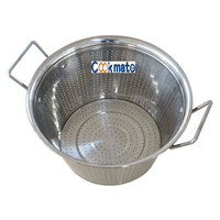 304 Stainless steel container with dense hole Vegetable Sieve Rice Extra Large Colander basket