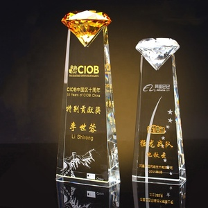 New Design 3D Blank Star Shape golf Exclusive Crystal Trophy Award Zhongshan