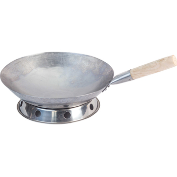 Kitchen Utensils Traditional Hand Hammered Carbon Steel Pow non-stick Wok