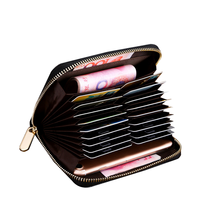 New arrival ladies zipper around phone and cash pocket id credit rfid blocking small clutch cards holder wallet