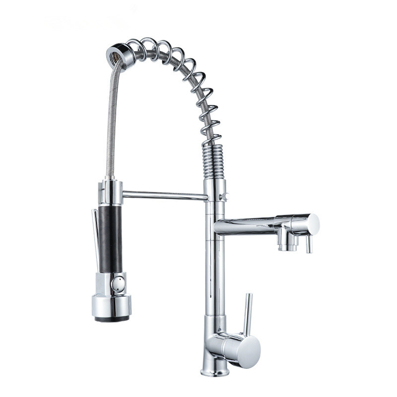 Quality-assured <strong>spring</strong> pulls single <strong>kitchen</strong> water tap