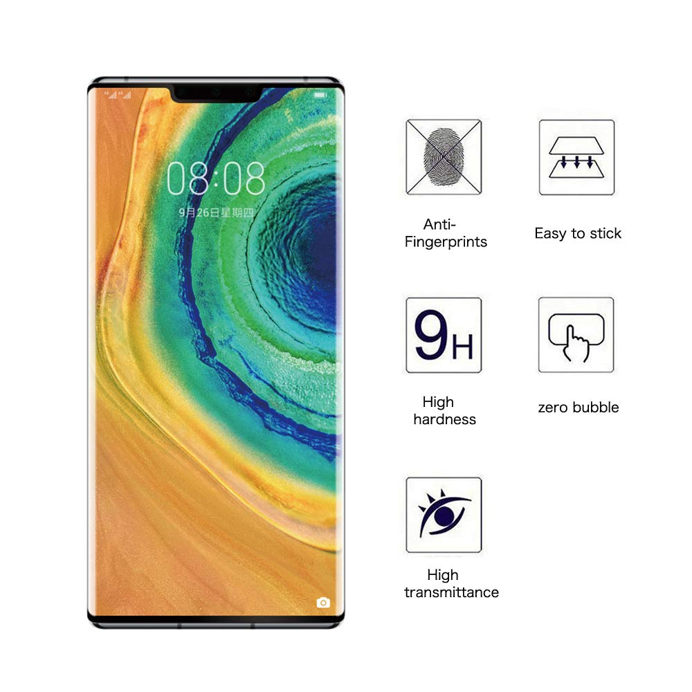 Huawei Mate 30 Pro 3d Curved Clear 9h Hardness 0.33mm Tempered Glass Screen Protector