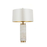 E26 Contemporary Simple Luxury Metal Art Bedroom Table Lamp