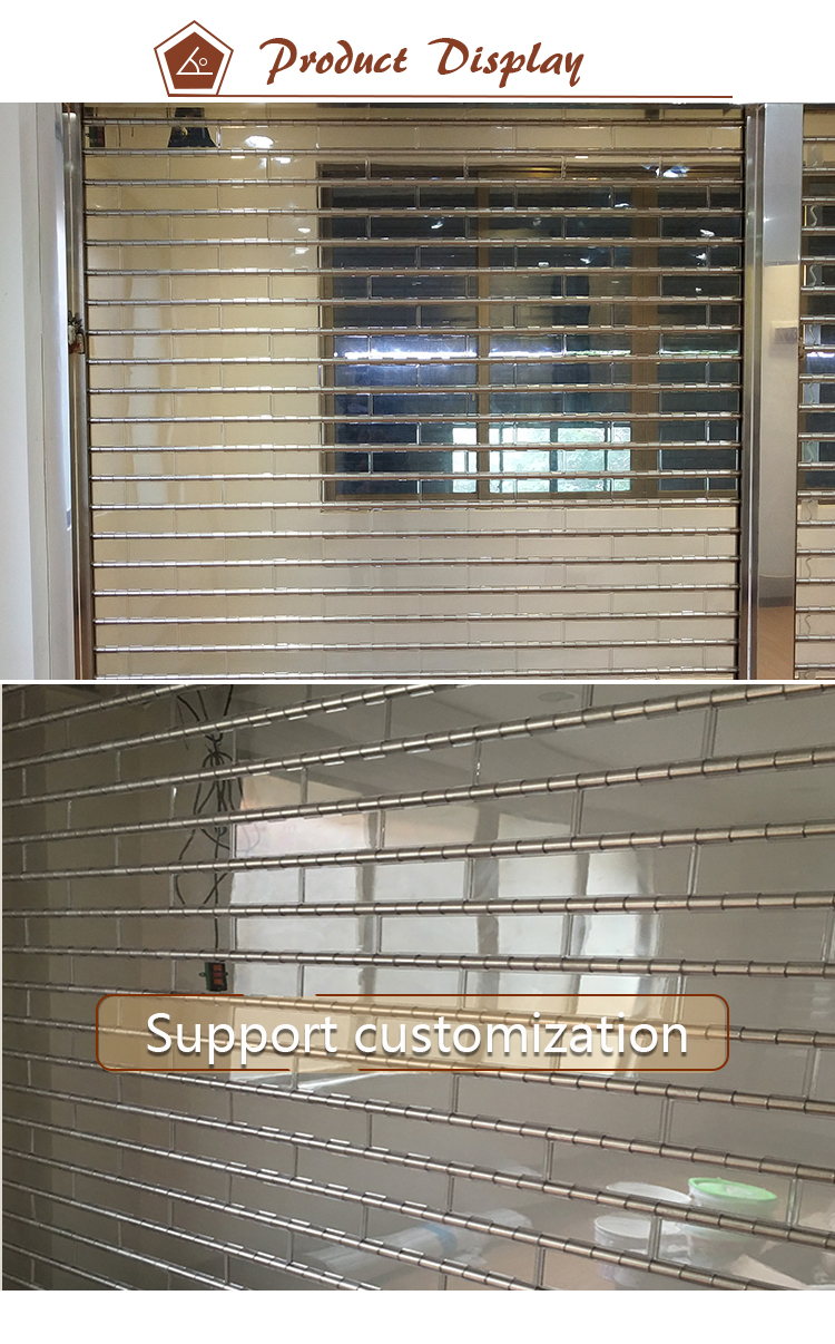 Automatic Clear Transparent Polycarbonate Roller Shutter For Commercial