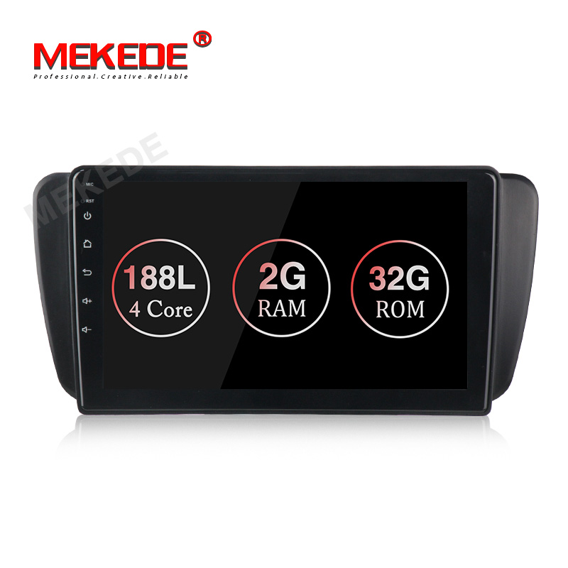 "Mekede 9 ""2 + 32GB Quad Core Android Sistema de Áudio Do Carro Radio GPS para Seat Ibiza V-W 9 sistema Multimídia do carro de Vídeo RDS sem DVD Player"