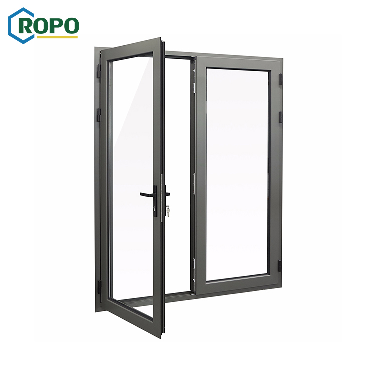 AWA Double Glass French Aluminum Swing Door Design