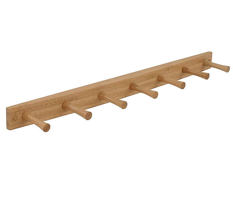 Bamboo Wood Wall Hook Rack MSL-090 Details