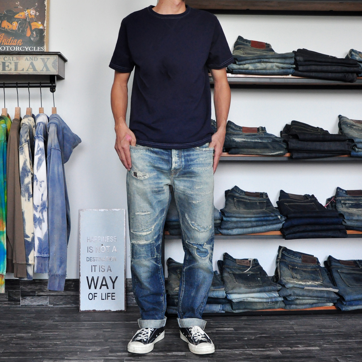 High quality vintage dropshipping stock mens selvedge denim jeans