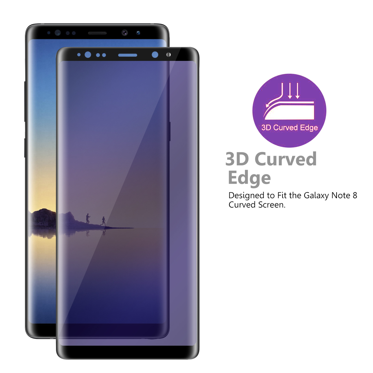 3D anti blue light 9H tempered glass screen protector for Samsung Galaxy Note 8