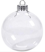 Dongguan in stock 100 wholesale 8cm clear plastic christmas ball
