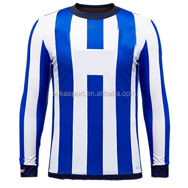 2019 Club World Rayados Monterrey jersey Blue white stripe Long sleeve mexico club soccer jersey football shirt set
